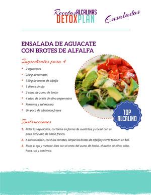 recetas con alimentos alcalinos para un menú alcalino